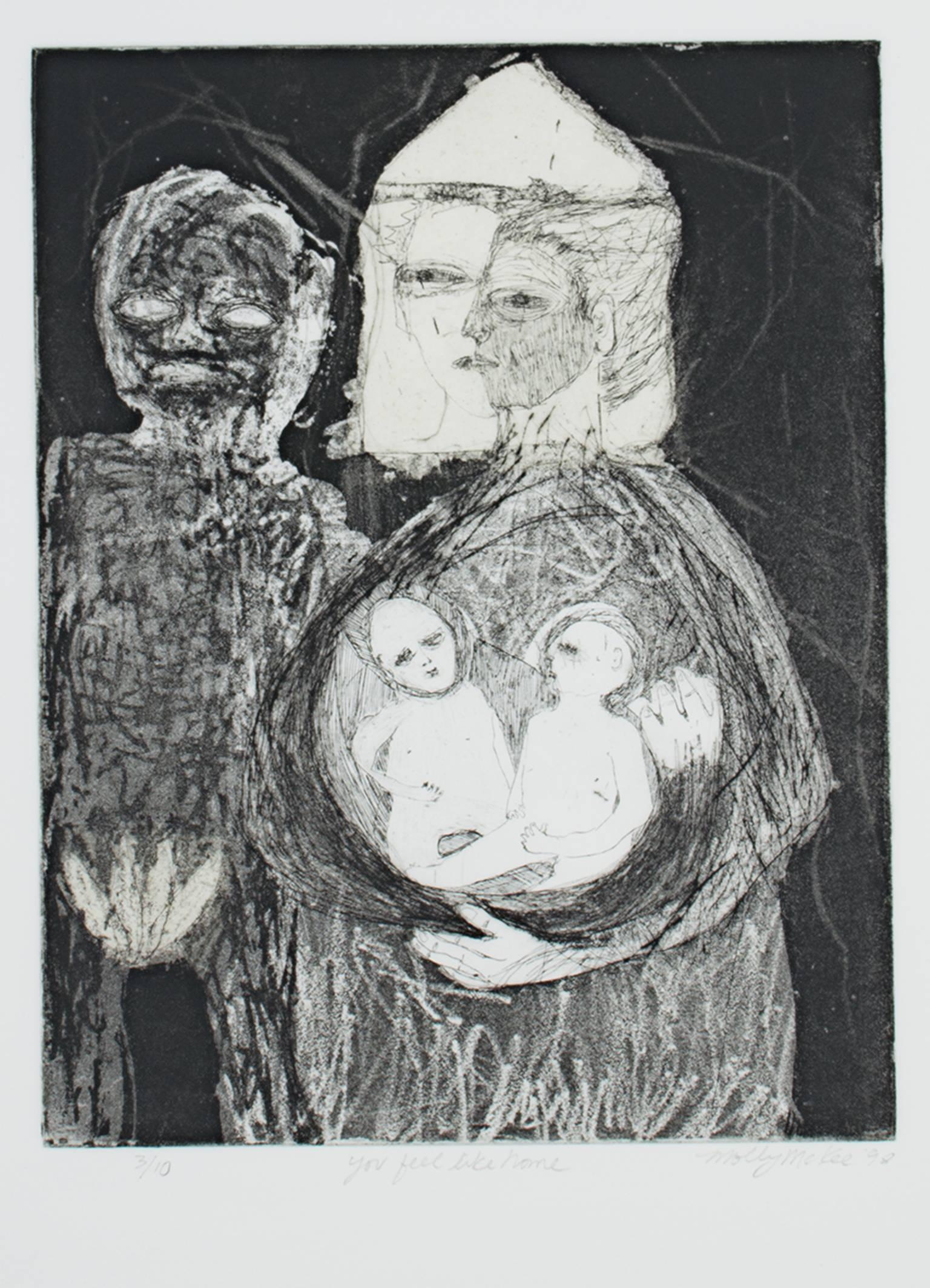 """""""You Feel Like Home,"""" an Etching & Aquatint signed by Molly McKee"""