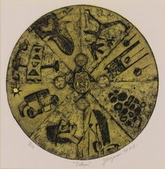 """""""Token,"""" a Collagraph signed by Joseph Rozman"""
