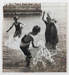 """Children Playing in Water-Lake Michigan (The Splash),"" a Siver Gelatin Photo"