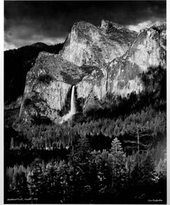 """Bridalveil Fall, Yosemite,"" Black & White Photograph signed by Thomas Ferderbar"