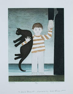 """The Walk,"" Lithograph on Paper signed by Will Barnet"