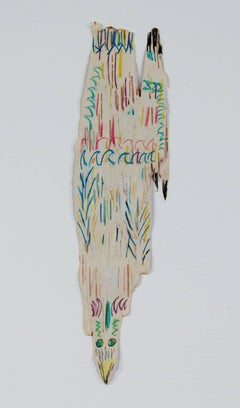 """""""Bald Eagle River Spirit,"""" an Oil and Pencil on Birch Bark signed by Barnett"""