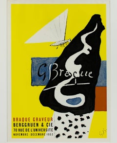 """Braque Graveur,"" an Original Lithograph Poster signed Georges Braque"