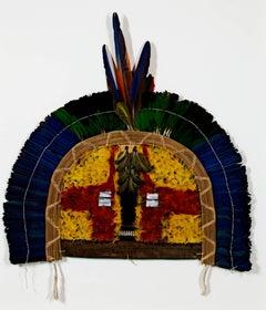 """""""Cara Grande (Taparapay tribe) Amazon Circumcision Mask,"""" Mixed Media c. 1950"""