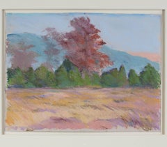 """""""Red Oak Albuquerque, NM,"""" a Pastel signed by Peggy Leonard"""