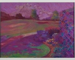 """""""Trellis of Clemantis Chenequa Country Club,"""" a Pastel signed by Peggy Leonard"""