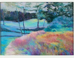 """""""Harmony on the Third Hole Chenequa Country Club"""" Pastel signed by Peggy Leonard"""