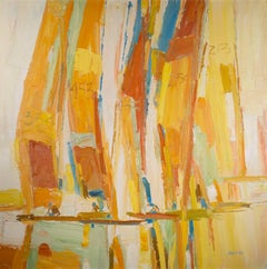"""Untitled (Sailboat Race),"" Oil on Canvas signed by Italo George Botti"