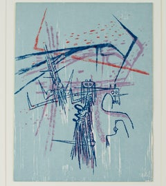 """""""Untitled, for """"XXe Siècle (20th C.)"""" Magazine #21 Original Color Lithograph"""