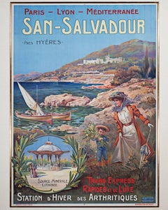"""San Salvador: Station d'Hiver des Arthritiques"" Original Color Lithograph"