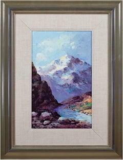 """Cordillera, Blanca-Ancash (White Mountains)"" Oil signed by Abelardo M Velazquez"