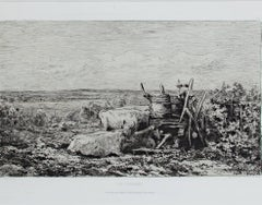 """Les Vendanges (L.D. 117 III/V)""an Original Etching by Charles François Daubigny"