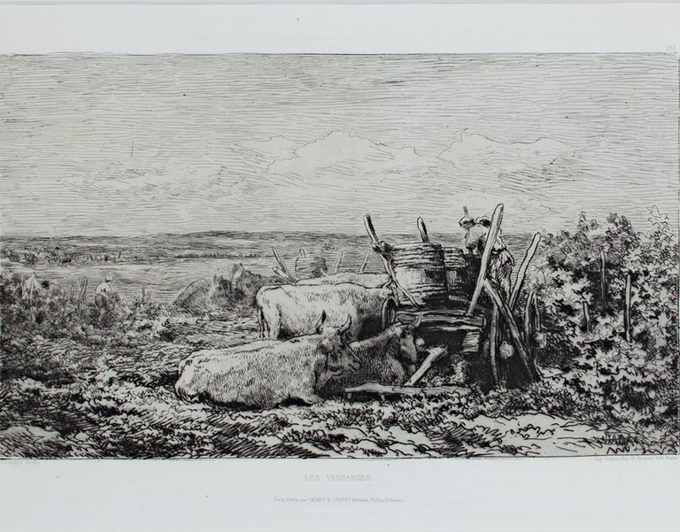 Charles François Daubigny Landscape Print - Les Vendanges (L.D. 117 III/V)