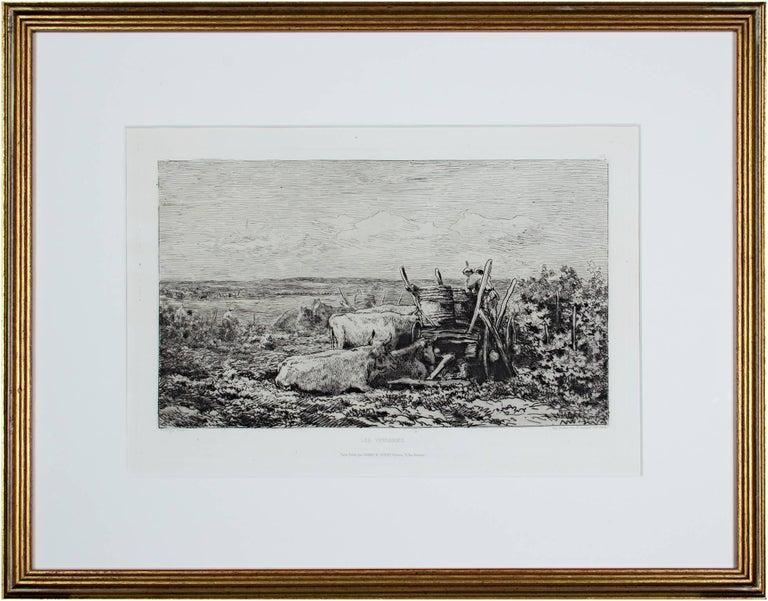 Les Vendanges (L.D. 117 III/V) - Print by Charles François Daubigny