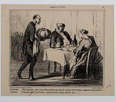"""""""CROQUIS D'ÉTÉ (Plate No. 5) LD 3203,"""" a Lithograph by Honore Daumier"""