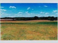 """Summer Fields Near Dijon,"" a Pastel signed by Michael DeFrancesco"