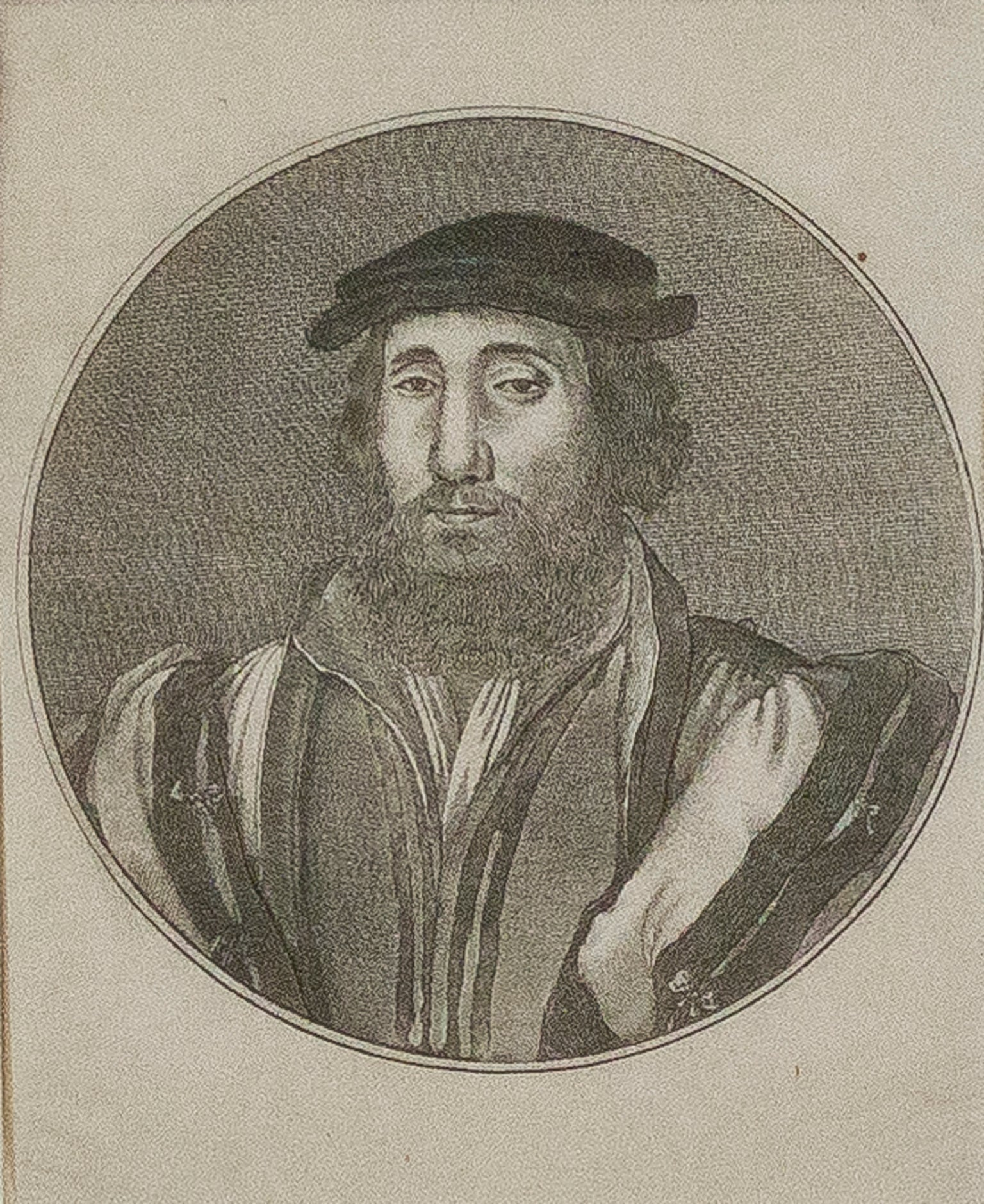 Portrait of a Man an Engraving by Wenceslaus Hollar