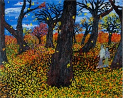 """Hikers Park North,"" an Acrylic on Canvas signed by Reginald K. Gee"