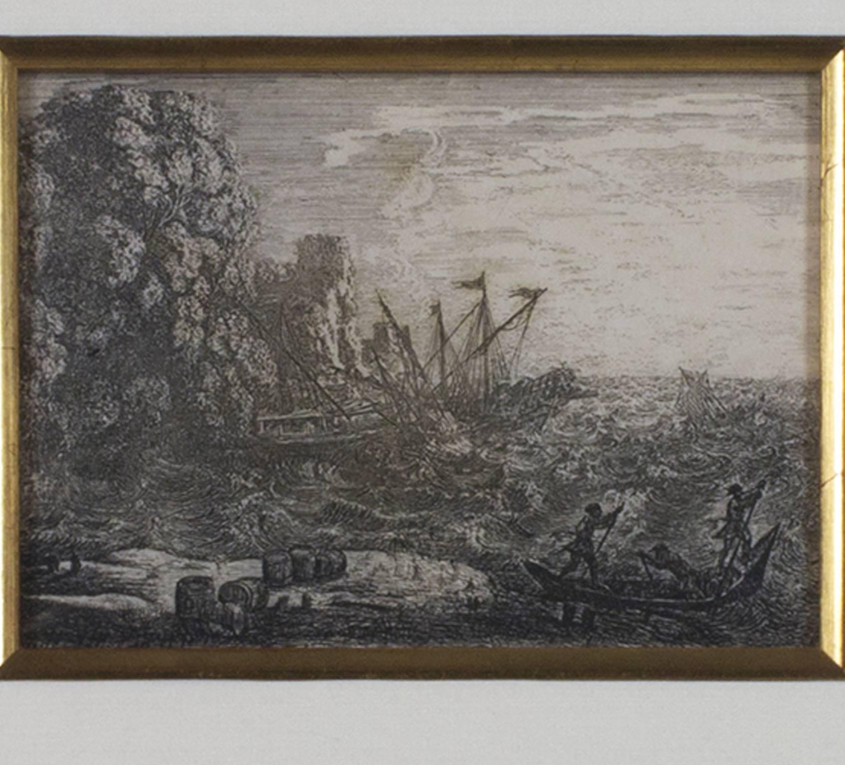 """""""La Tempete (The Tempest)"""" an Etching by Claude Lorrain"""