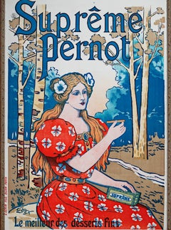 """Supreme Pernot,"" Original Color Lithograph Poster by E. Gex"