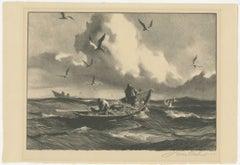 """Seagulls & Fishermen"" Original Lithograph signed by Gordon Grant"