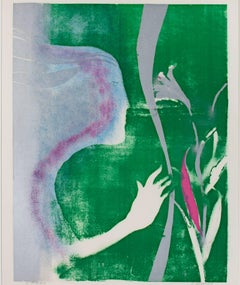 """Woman With a Lily,"" a Lithograph signed AP by Paul Guiramand"