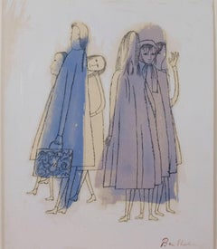 """Two Days of Childhood That are Still Unexplained,"" Litho signed by Ben Shahn"