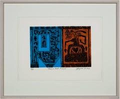 """""""Man's Best Friend"""" Original Color Collagraph signed by Joseph Rozman"""