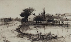 """""""Sketch Near Pittsfield,"""" an Etching signed by Stephen Parrish"""