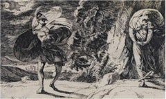 """Perseus and Andromeda,"" an Etching by Alexander Runciman"