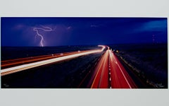 """Lightning Along Route 66 Arizona - Navajo Exit,"" Photograph by Robert Sheer"