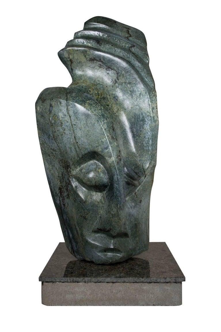 Chemedu Jemali Figurative Sculpture - Shona Chief