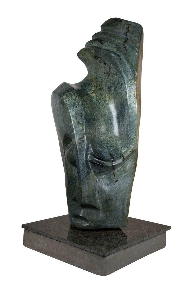 Shona Chief - Sculpture by Chemedu Jemali