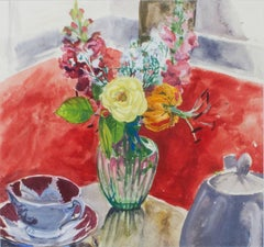 Vase of Flowers & Tea Cup