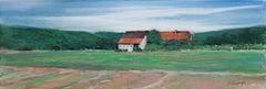 """Normandy Farmhouse,"" Pastel signed by Michael DeFrancesco"