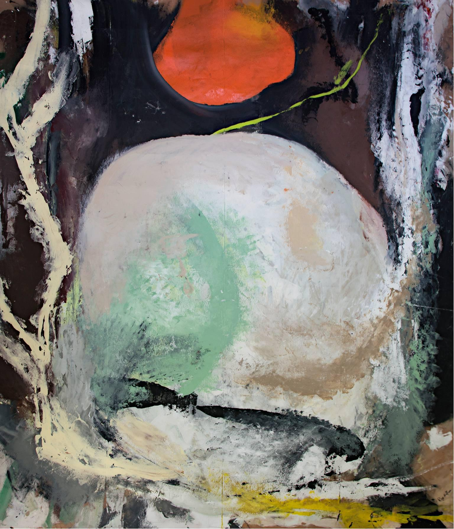 """Spirit Sunrise,"" Acrylic on Canvas signed by Reginald K. Gee"