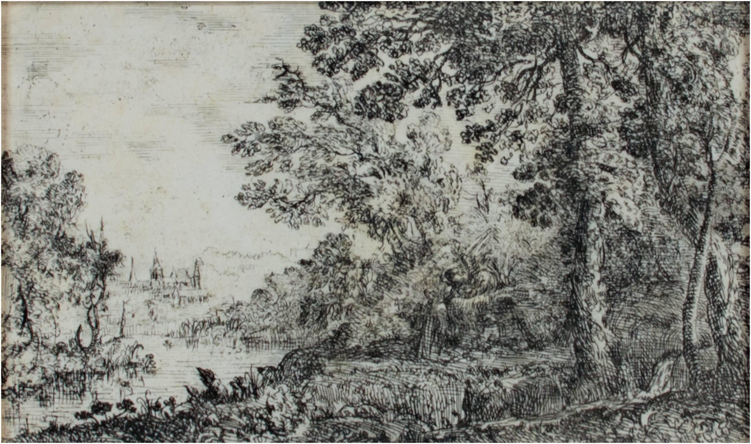 """L'Apparition (The Vision),"" an etching by Claude Lorrain"