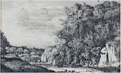 """La Fuite en Egypte (The Flight into Egypt),"" Etching by Claude Lorrain"