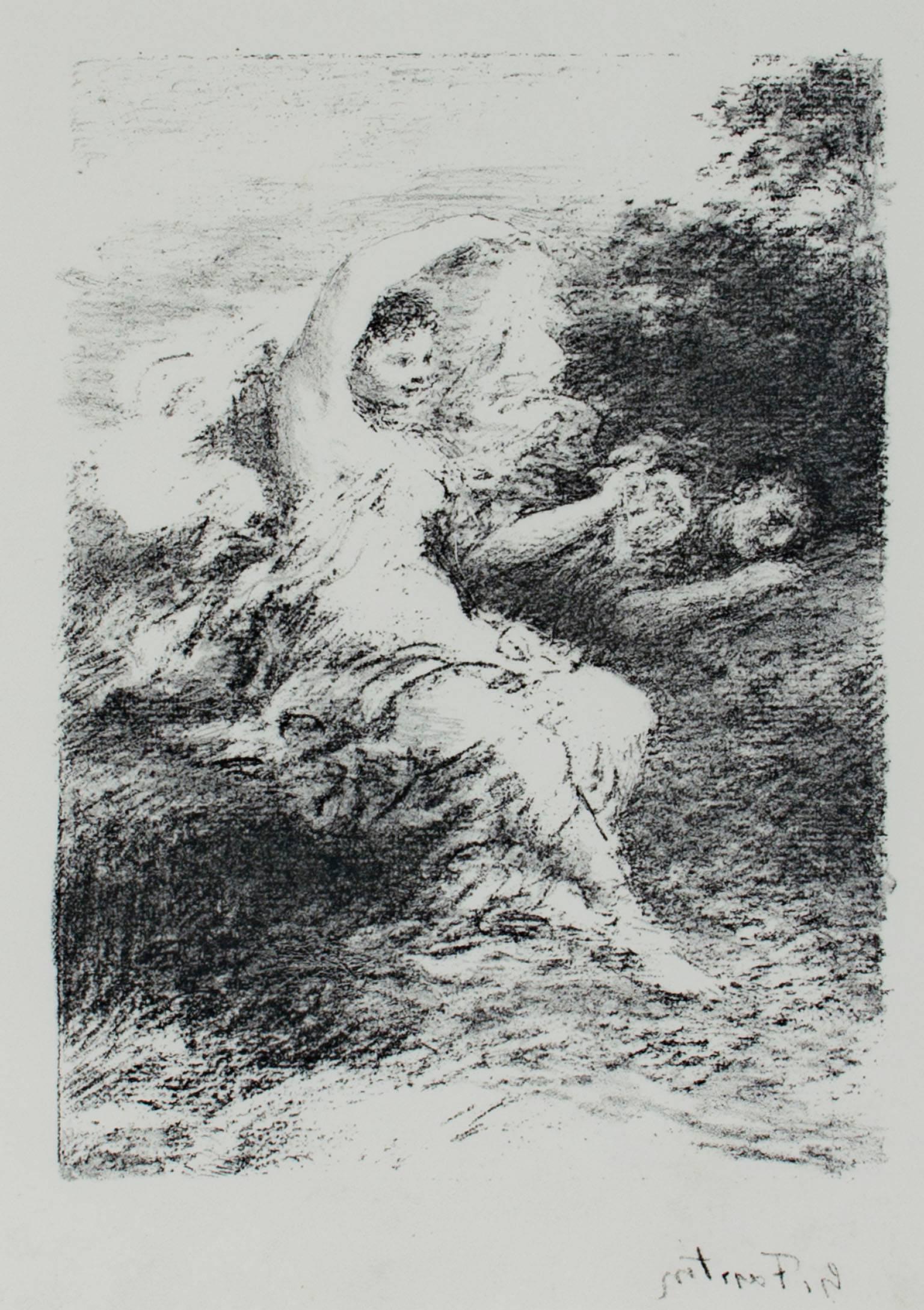 """""""Les Bucoliques X,"""" Original Lithograph signed by Henri Fantin-Latour"""