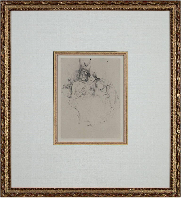 The Drawing Lesson - Print by Berthe Morisot