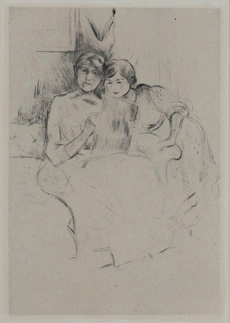 Berthe Morisot Figurative Print - The Drawing Lesson