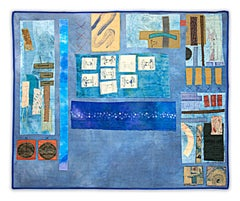 """Minutiae V,"" a Fiber Collage Mixed Media signed by Jeanne Smith"
