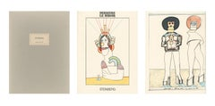 """Derriere Le Miroir,"" Three Original Color Lithographs by Saul Steinberg"