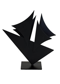 """""""Midnight Sea Shapes,"""" Painted Steel signed by Ralph Wickstrom"""