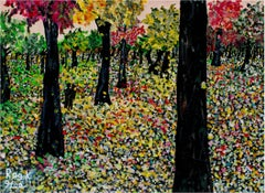 """Bland Impressions of Easy Park (The Fall Collection),"" Acrylic signed by Gee"