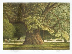"""Great Tree,"" Original Color Lithograph signed by Harold Altman"