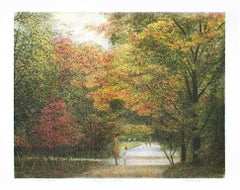 """Autumn Afternoon,"" Original Color Lithograph an AP signed by Harold Altman"