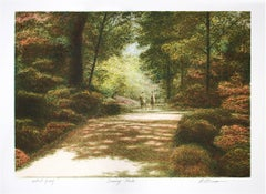 """Sunny Path,"" Original Color Lithograph signed by Harold Altman"