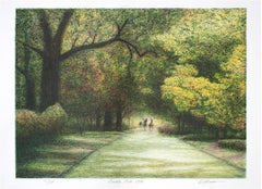 """Bridle Path,"" an Original Color Lithograph signed by Harold Altman"