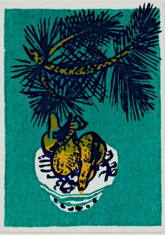 """Festive Fruit,"" Original Color Silkscreen signed by Ruth Grotenrath"